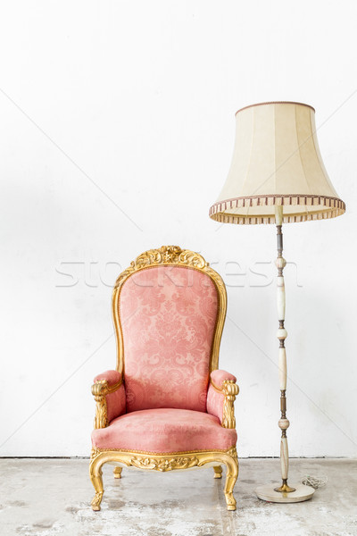 Pink Vintage Chair with lamp Stock photo © vichie81