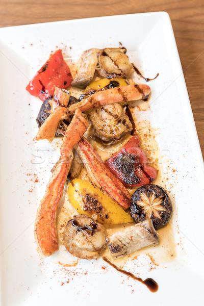 Alla griglia japanese re granchio alimentare piatto Foto d'archivio © vichie81