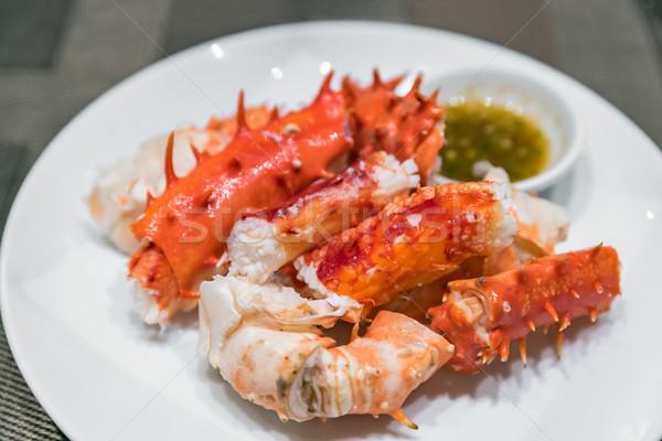 alaskan king crab meat  Stock photo © vichie81