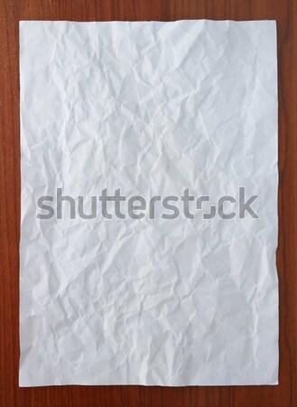 White paper attach on wooden board Stock photo © vichie81