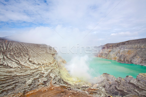 Sulfur Mine Indonesia Ijen Stock photo © vichie81