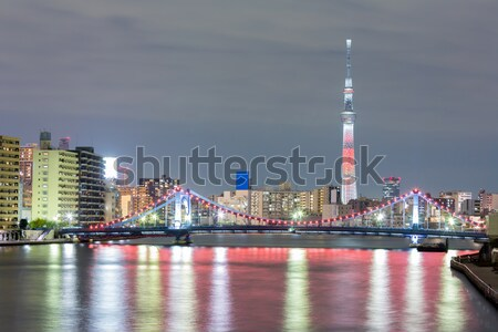 Tokyo skytree at night Stock photo © vichie81