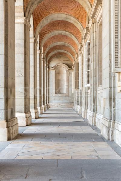 Foto stock: Palacio · corredor · real · Madrid · España · edificio