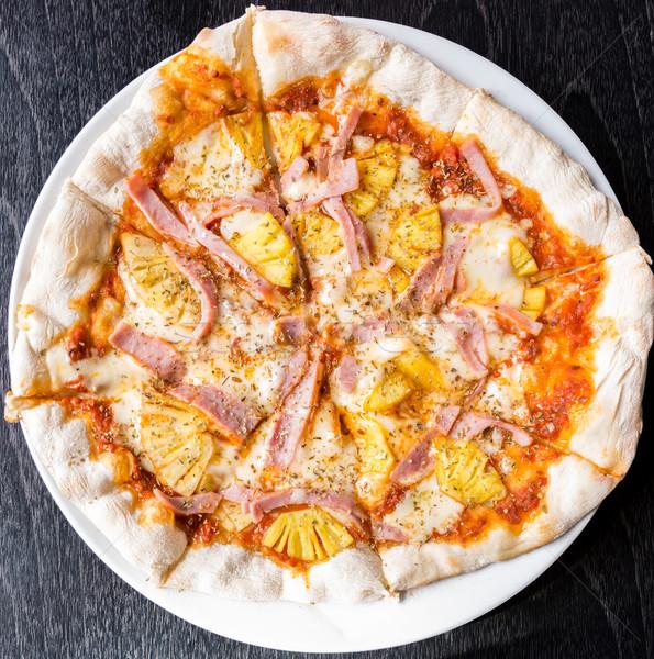 Pizza Italiaans diner koken lunch snel Stockfoto © vichie81