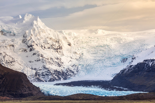 Gletsjer park natuur landschap achtergrond schoonheid Stockfoto © vichie81