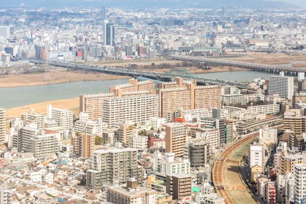 Cityscape ufuk çizgisi Bina şehir seyahat Stok fotoğraf © vichie81
