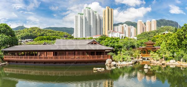 Chi Lin Nunnery Hong Kong Stock photo © vichie81