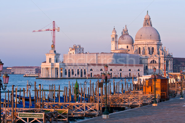 Santa Maria Della Salute Church at Grand canal Venice morning Stock photo © vichie81