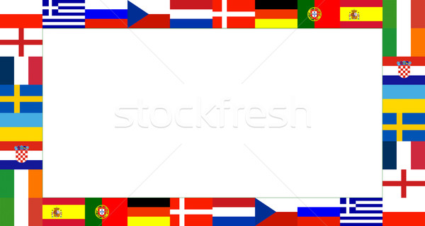 16 National flag Frame Pattern Stock photo © vichie81