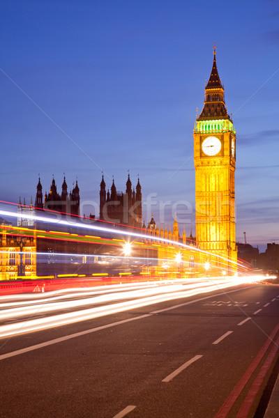 Big Ben schemering landschap paleis westminster Londen Stockfoto © vichie81