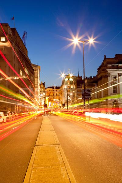 ロンドン 景観 道路 光 歩道 夕暮れ ストックフォト © vichie81