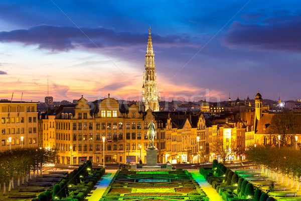 Brussels Cityscape Belgium Stock photo © vichie81