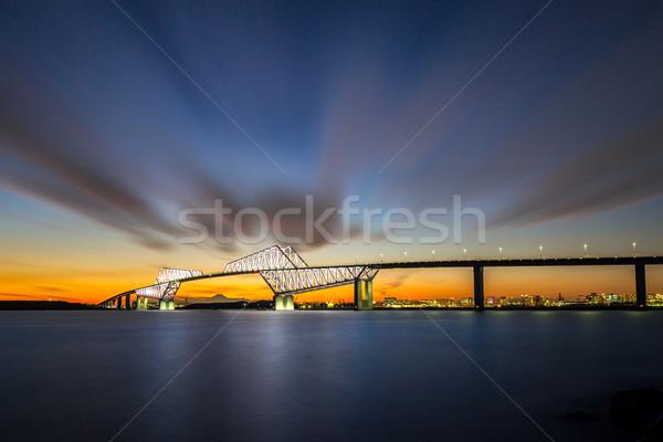 Tokio puerta puente mojón montana fuji Foto stock © vichie81