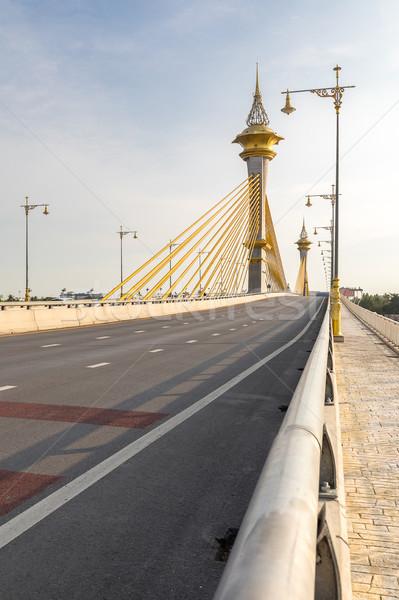 моста небе строительство закат свет красоту Сток-фото © vichie81