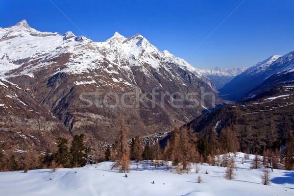 Zermatt City surround by high mountain, Matterhorn , Switzerland Stock photo © vichie81