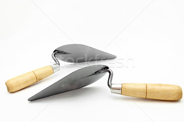 perspective of isolated of lute trowel Stock photo © vichie81