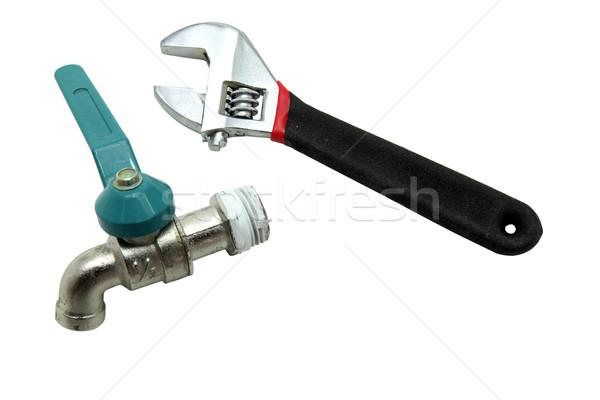 ключа регулируемый гаечный ключ обезьяны воды клапан Сток-фото © vichie81