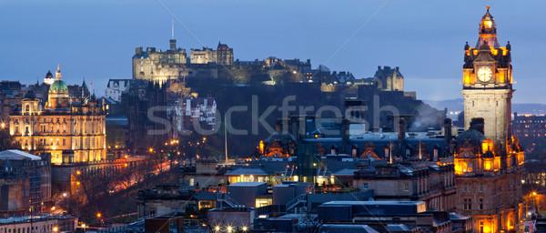 Edinburgh Cityscape Panorama Stock photo © vichie81
