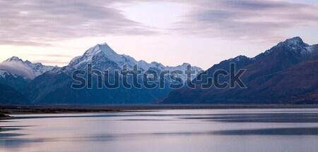 Mount cook Sunset New Zealand Stock photo © vichie81