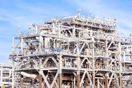 очистительный завод завода Природный газ нефть газ промышленности Сток-фото © vichie81