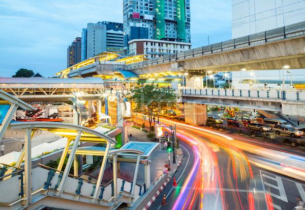 Bangkok Innenstadt Business Himmel Büro Gebäude Stock foto © vichie81