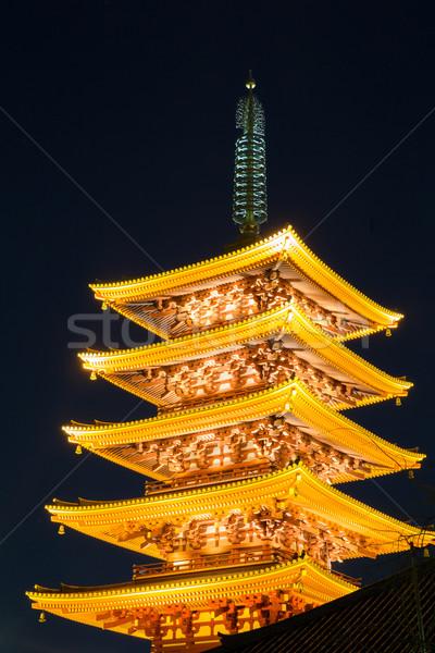 Templo pagode Tóquio Japão céu cidade Foto stock © vichie81