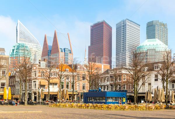 Нидерланды центра монументальный старые зданий современных Сток-фото © vichie81