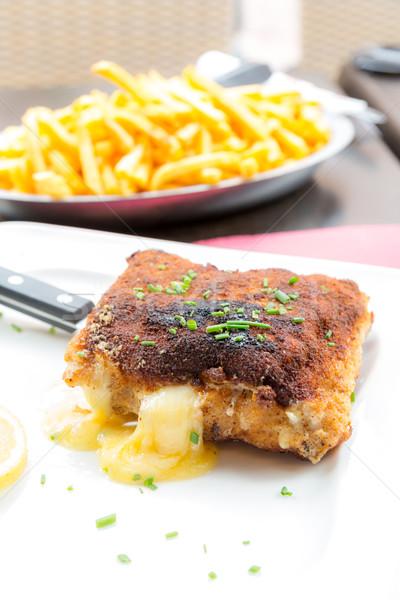 Chicken cordon bleu Stock photo © vichie81