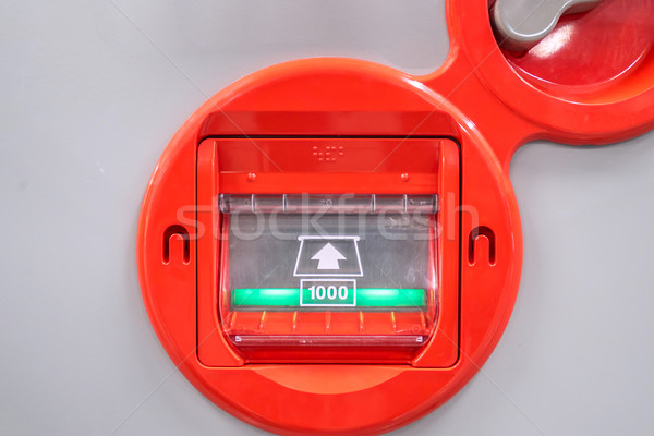 árusító automata bankjegy pénz textúra bank szín Stock fotó © vichie81