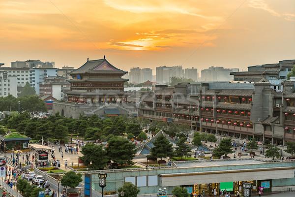 Stock photo: Xian drum tower