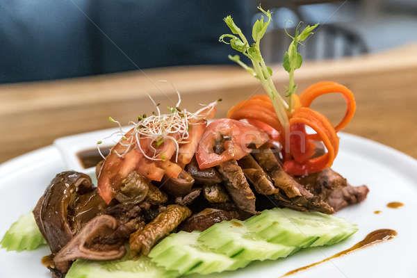 глубокий жареный корицей свинина южный тайский Сток-фото © vichie81