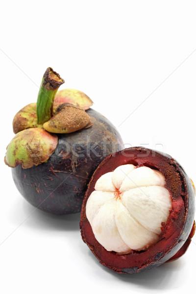 свежие Мангостин перспективы тропические фрукты белый продовольствие Сток-фото © vichie81
