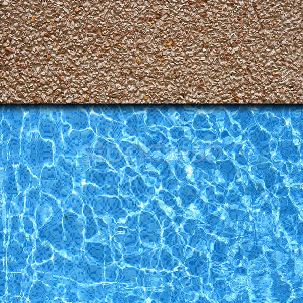 red sand stone pavement with pool edge background Stock photo © vichie81