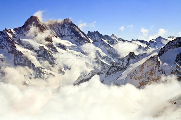Manzara buğu alpine alpler dünya kar Stok fotoğraf © vichie81