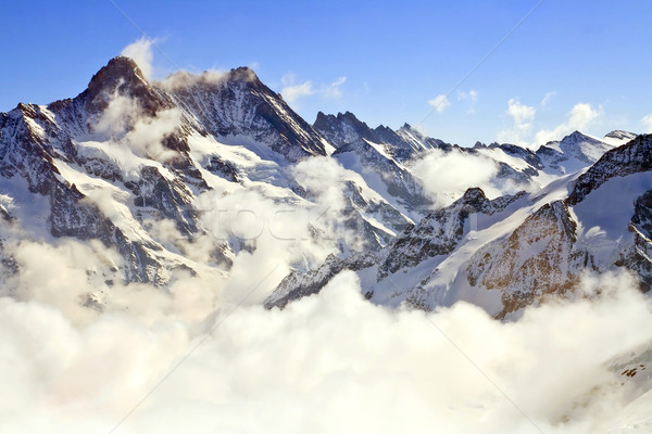 Landscape of Mist at Jungfraujoch, part of Swiss Alpine Alps at  Stock photo © vichie81