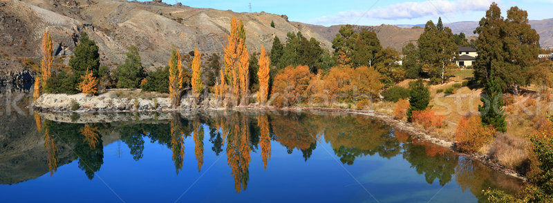 lake dunstan panorama New Zealand Stock photo © vichie81