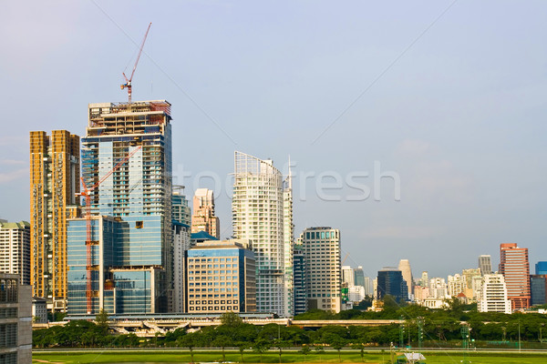 Bangkok Skyscraper Office Tower Stock photo © vichie81