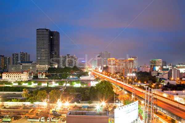 Bangkok Highway and building at downtown Stock photo © vichie81