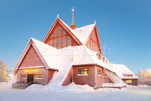 Kathedraal Zweden kerkarchitectuur schemering schemering ontwerp Stockfoto © vichie81