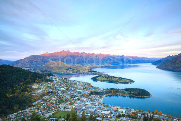 Queenstown New Zealand Sunset Stock photo © vichie81