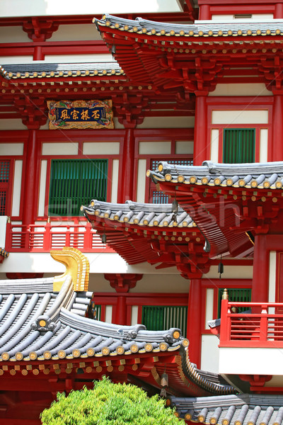 Buddha Tooth Relic Temple in China Town Singapore, closeup Stock photo © vichie81