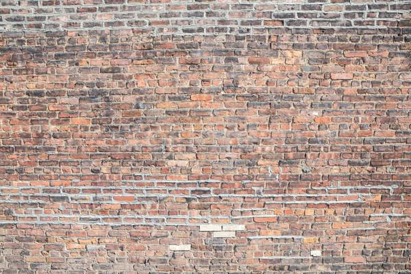 Ziegel Grunge Backsteinmauer Bau Hintergrund Architektur Stock foto © vichie81