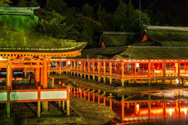 Santuario tempio Giappone tramonto Foto d'archivio © vichie81