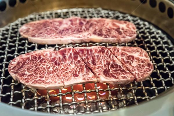 Grillezett vesepecsenye hús frissesség japán BBQ Stock fotó © vichie81