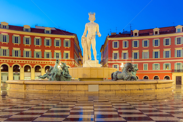 Place Massena square Nice, French Riviera Stock photo © vichie81