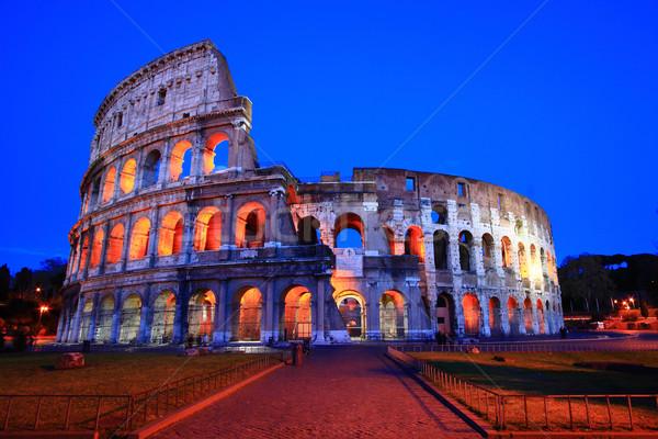 Колизей Рим Италия ночь сумерки лет Сток-фото © vichie81