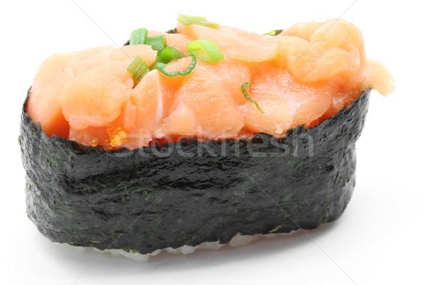 uni salmon gunkan sushi Stock photo © vichie81