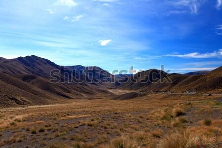 Dry Mountain Range at Lindis Pass Stock photo © vichie81