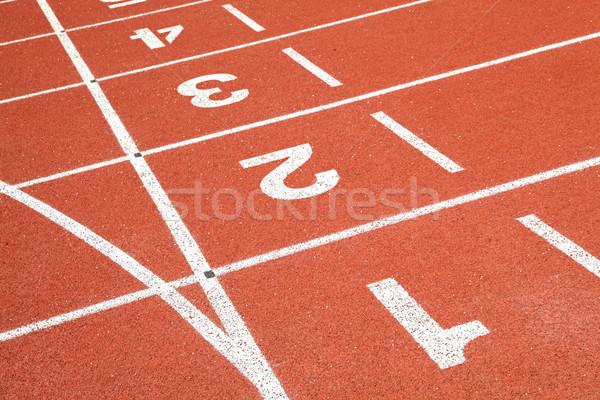 Rennstrecke Perspektive Textur Sport Bereich laufen Stock foto © vichie81