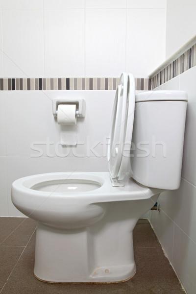 Wc ülés papírzsebkendő belső papír fürdőszoba Stock fotó © vichie81